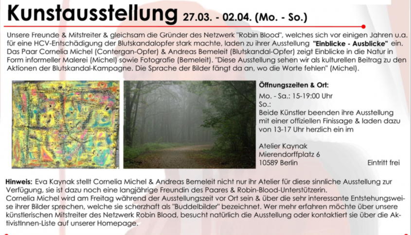Berlin-Auftakt der Blutskandal-Kampagne